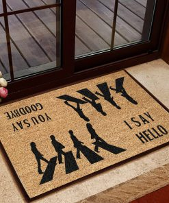the beatles i say hello you say goodbye doormat 1