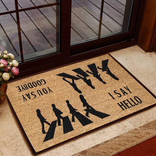 the beatles i say hello you say goodbye doormat 1 - Copy (2)