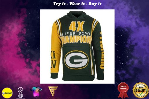 the green bay packers super bowl champions full over print shirt