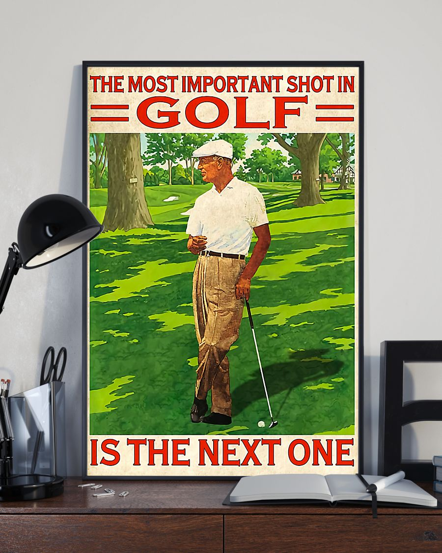 the most important shot in golf is the next one retro poster 2