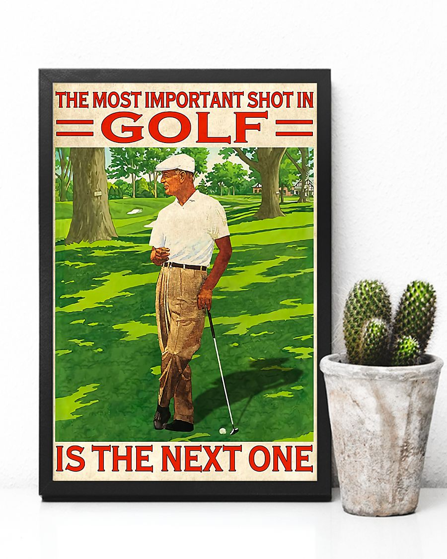 the most important shot in golf is the next one retro poster 4