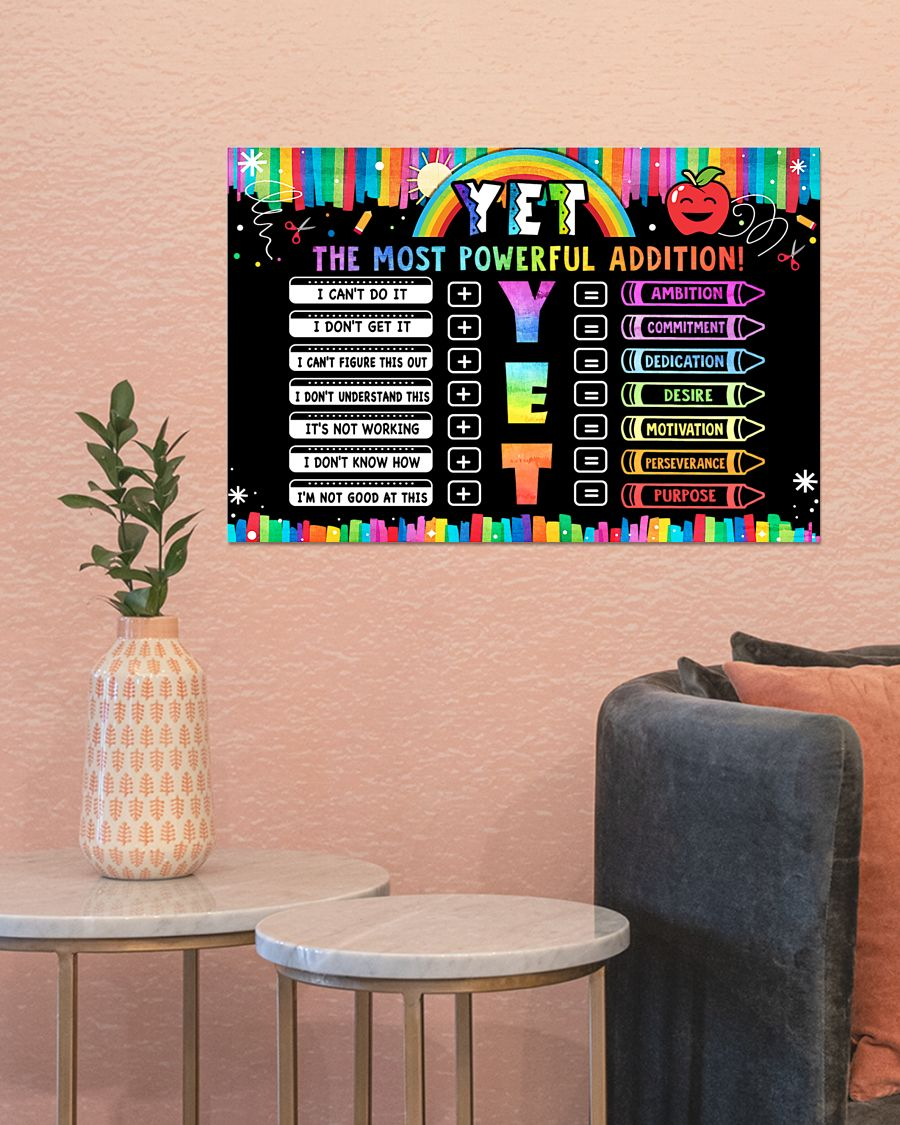 the most powerful addition classroom poster 3