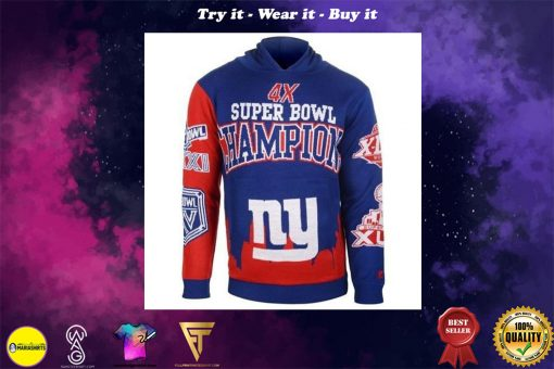the new york giants super bowl champions full over print shirt