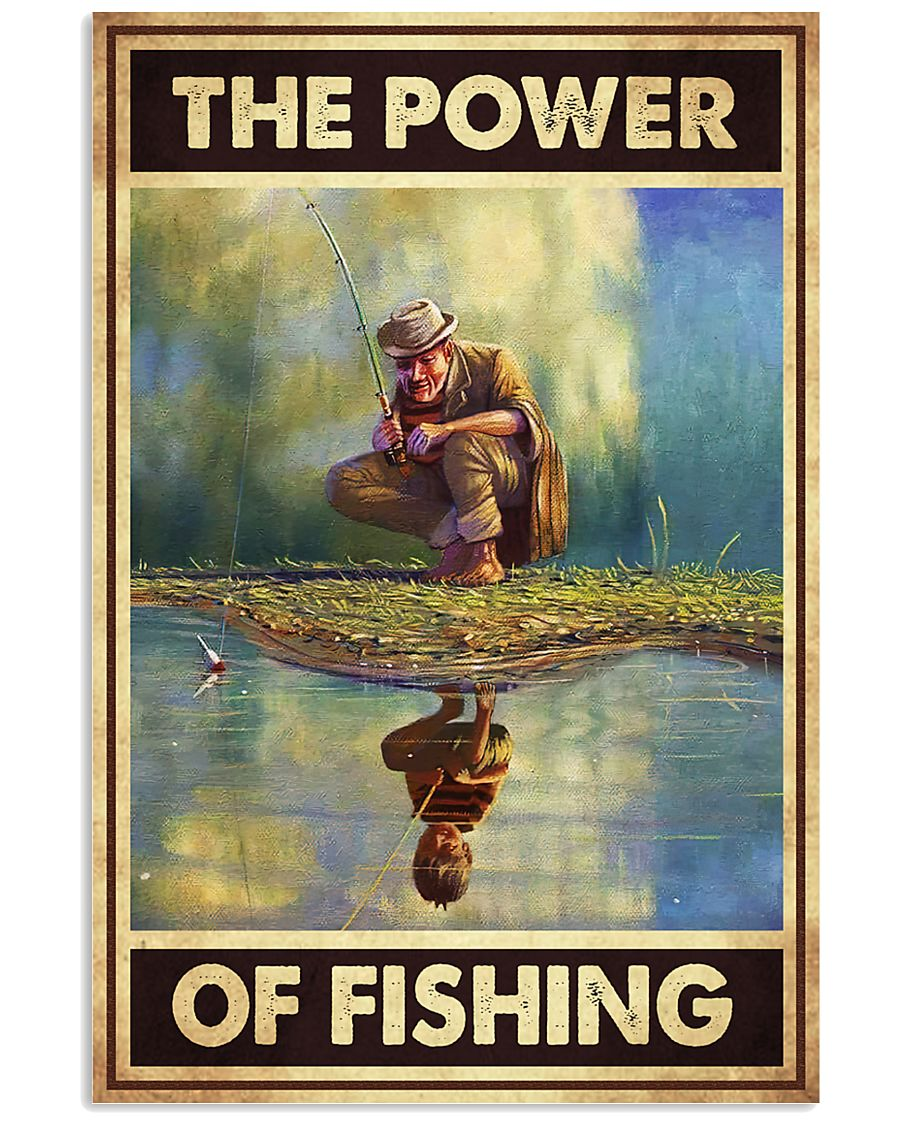 the power of fishing retro poster 3