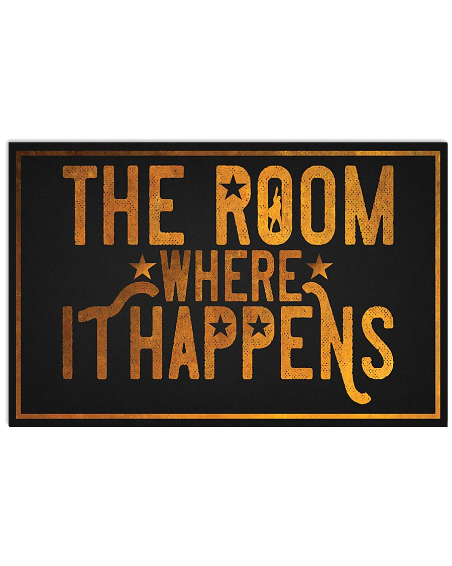 the room where it happens retro poster 4