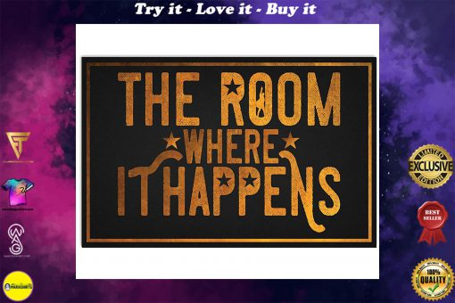 the room where it happens retro poster