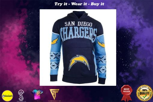 the san diego chargers full over print shirt