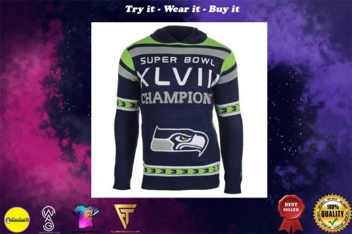 the seattle seahawks super bowl champions full over print shirt