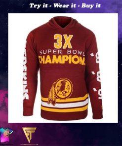 the washington redskins super bowl champions full over print shirt