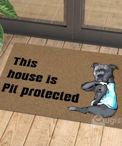 this house is pit protected i love mom tattoo doormat 1 - Copy (3)