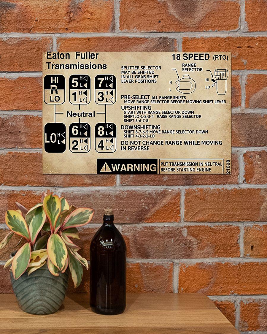 trucker warning information eaton fuller transmissions poster 4
