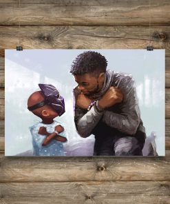 true warrious black panther watercolor poster 2