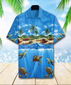turtle sea full printing hawaiian shirt 1 - Copy