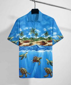 turtle sea full printing hawaiian shirt 2