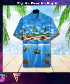 turtle sea full printing hawaiian shirt