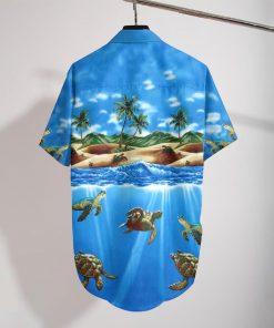 turtle sea full printing hawaiian shirt 3