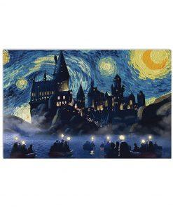 vincent van gogh starry night hogwarts harry potter poster 3