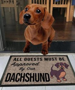vintage all guests must be approved by our dachshund doormat 1 - Copy (3)