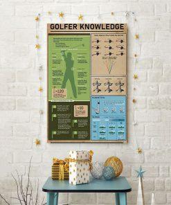 vintage golf golfer knowledge poster 4