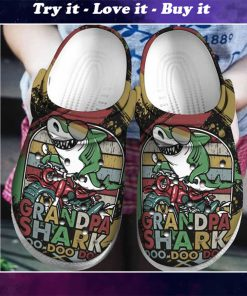 vintage grandpa shark doo doo crocs - Copy