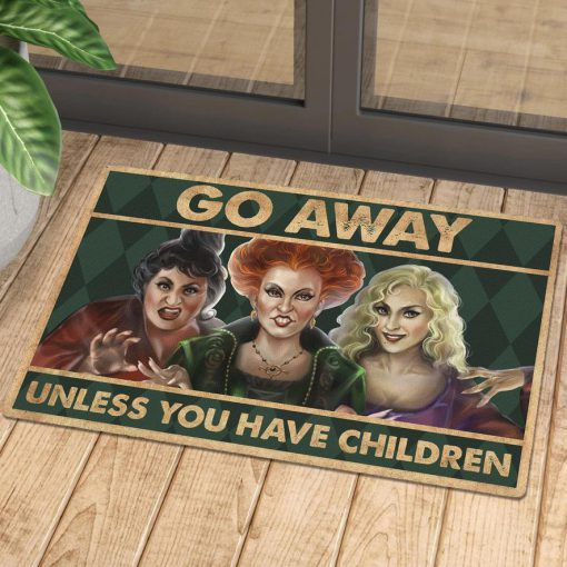 vintage halloween hocus pocus go away unless you have children doormat 1