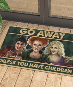 vintage halloween hocus pocus go away unless you have children doormat 1 - Copy
