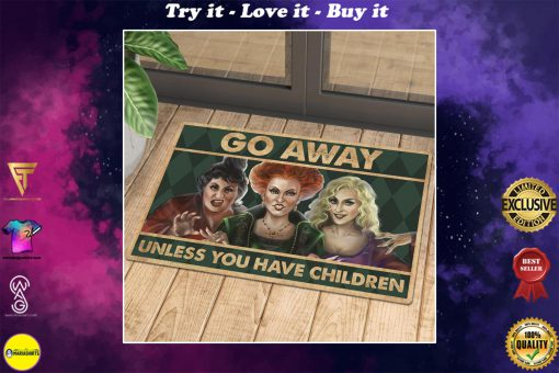 vintage halloween hocus pocus go away unless you have children doormat