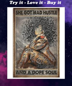 vintage she got mad hustle and a dope soul black queen poster