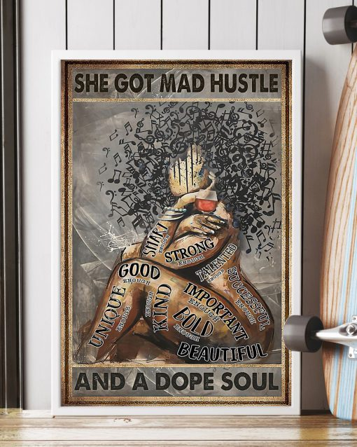 vintage she got mad hustle and a dope soul black queen poster 4