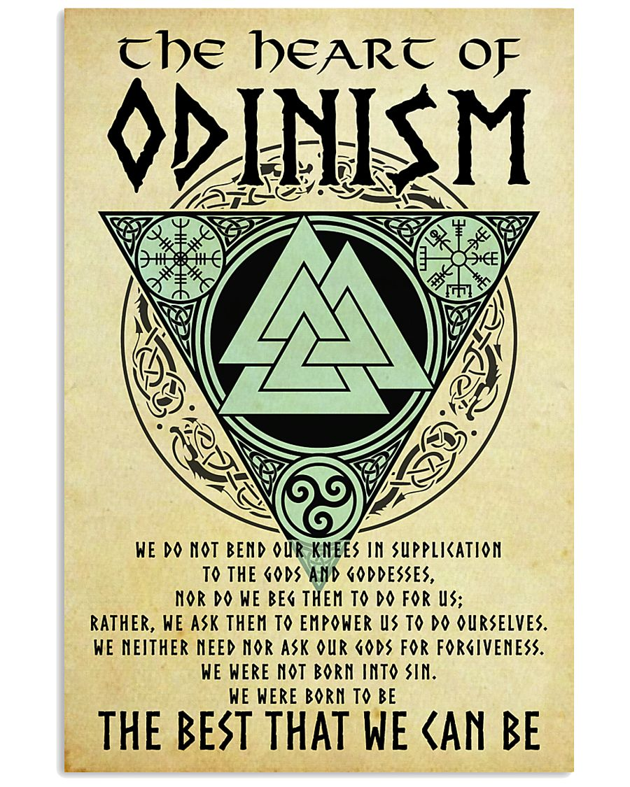 vintage viking the heart of odinism the best that we can be poster 1