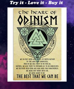 vintage viking the heart of odinism the best that we can be poster