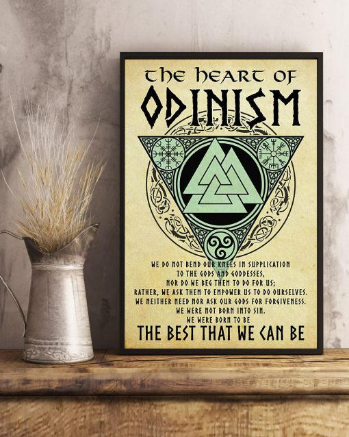 vintage viking the heart of odinism the best that we can be poster 3
