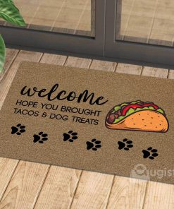vintage welcome hope you brought tacos and dog treats doormat 1 - Copy (3)