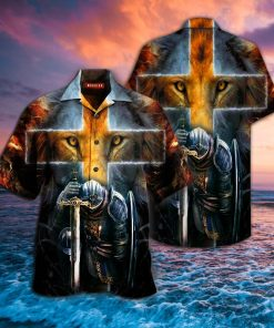 warrior of Christ lion cross full printing hawaiian shirt 1 - Copy