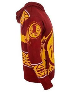 washington redskins nfl full over print shirt 3