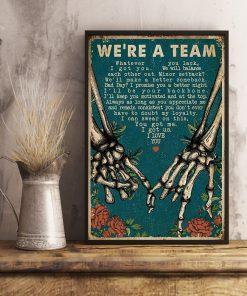 we're a team skeleton retro poster 3