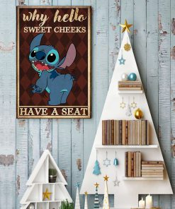 why hello sweet cheeks have a seat stitch retro poster 4