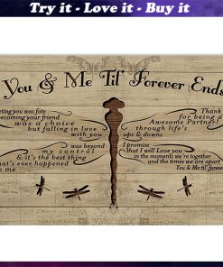 you and me til forever ends dragonfly poster