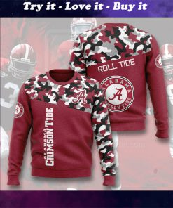 alabama crimson tide football camo full printing ugly sweater