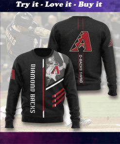 arizona diamondbacks d-backs swing full printing ugly sweater