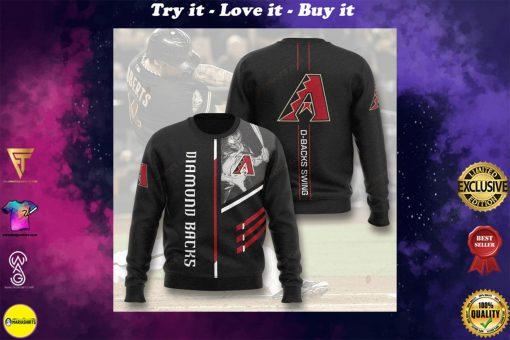 arizona diamondbacks d-backs swing full printing ugly sweater