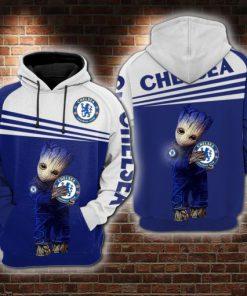 baby groot love chelsea champions league full printing hoodie 1
