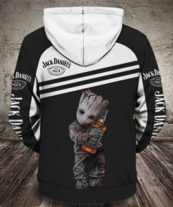 baby groot love jack daniels tennessee whiskey full printing hoodie 1