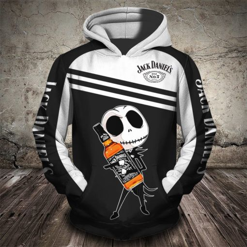 baby jack skellington love jack daniels full printing shirt 1