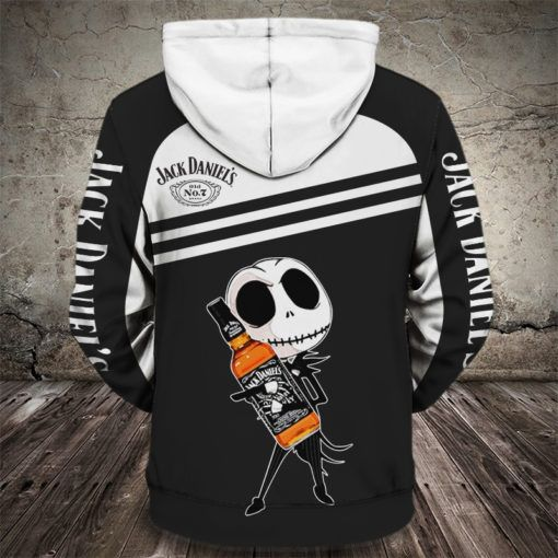 baby jack skellington love jack daniels full printing shirt 2
