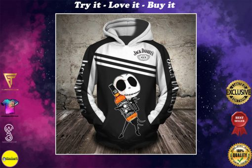 baby jack skellington love jack daniels full printing shirt