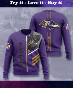 baltimore ravens go ravens full printing ugly sweater