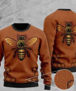 bee pattern full printing christmas ugly sweater 2