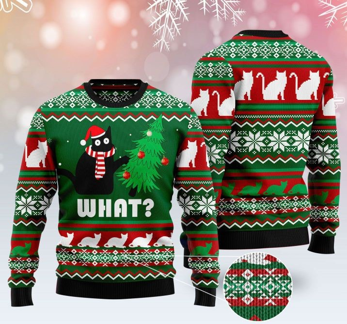 black cat what pattern full printing christmas ugly sweater 2 - Copy (3)