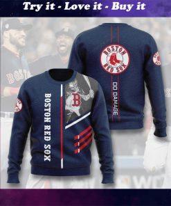 boston red sox do damage full printing ugly sweater